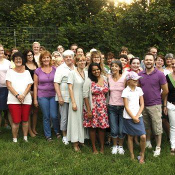 Das Team vom Pflegedienst Hessen-Süd bei einem gemeinsamen Grillfest